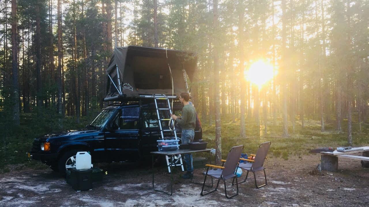 Voor avonturiers, kamperen met de daktent op de landrover