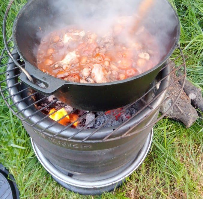Smullen voor je tent: Coq au Camping